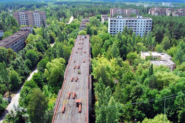 Geisterstadt Pripyat in der Ukraine
