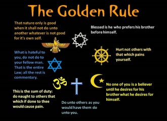 the golden rule The golden rule is a children's book written about a girl that feels her religion, culture and family life is different to others she then explores the fact and begins to learn that every faith has a golden rule just like hers and even though they too, are different, they all stand on common grounds.