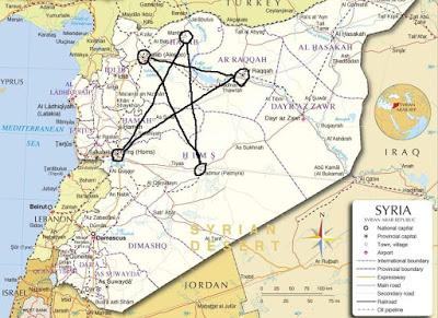 Syrien Karte Mit Städten.Das Syrien Pentagramm Transinformation