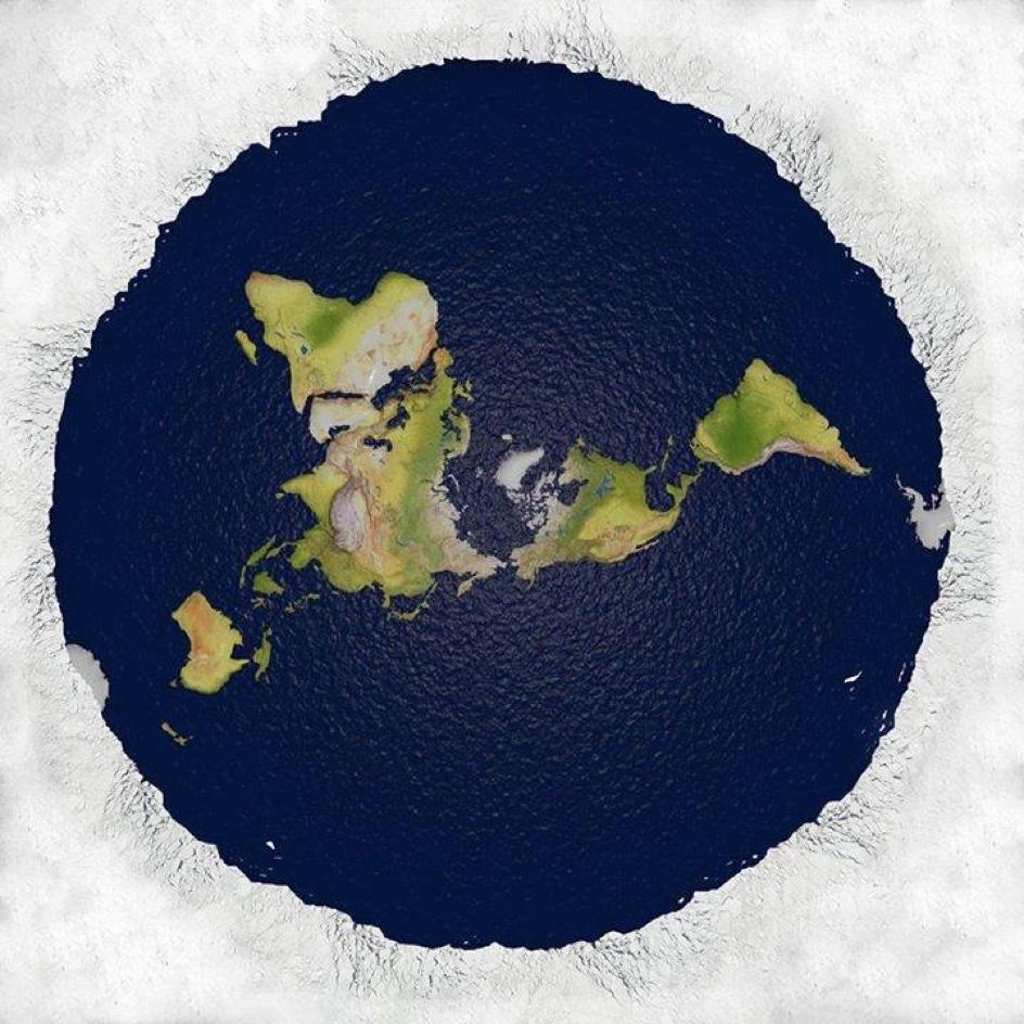 Flache Erde