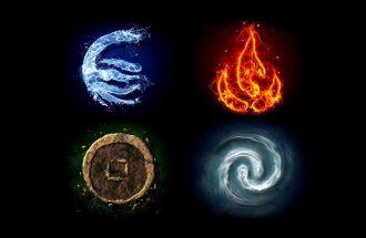 Die Elemente Feuer Erde Luft Wasser Zum Meditieren Und Zur