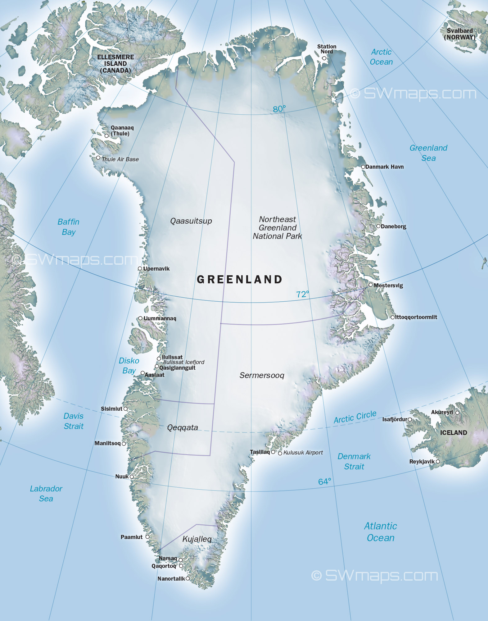 A generic map of Greenland