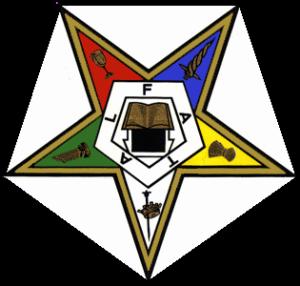 Das Symbol der OES ist ein invertierter Stern, ähnlich dem Blazing Star der Freimaurerei.
