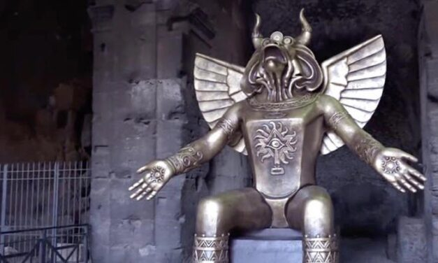 Offenlegung des weltweiten Menschenhandels und Kindesmissbrauchs: Ein Kinderopfer-Gott, der jetzt in Rom ausgestellt ist, wirft Fragen über Eliten-Pädophilie und rituellen Missbrauch auf